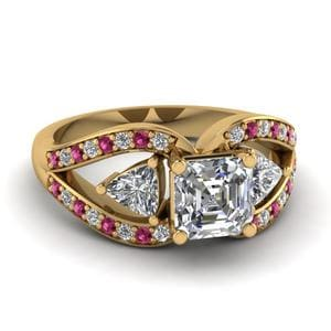 Pink Sapphire Butterfly Ring