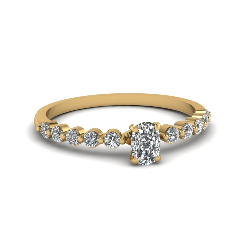 Traditional Cushion Diamond Petite Ring