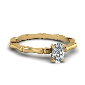 Bone Design Cushion Cut Ring