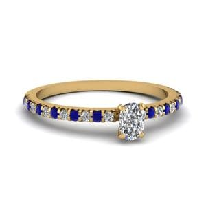 Sapphire Thin Engagement Ring