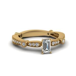 Antique Emerald Cut Diamond Ring