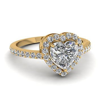 0.75 Carat Heart Cut Diamond Engagement Rings