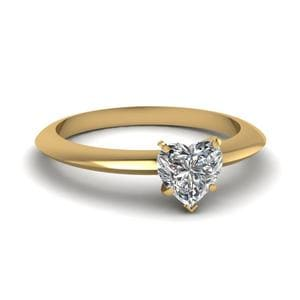 Yellow Gold Heart Shaped Ring