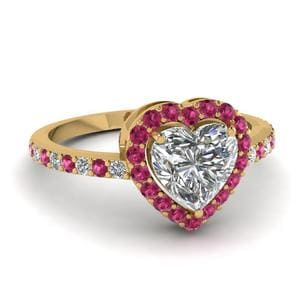 Heart Shaped Pink Sapphire Ring