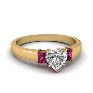 3 Stone Heart Shaped Ring