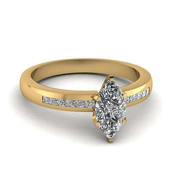 1/2 ct. channel set marquise diamond ring