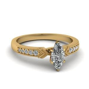 Antique Pave Marquise Cut Ring