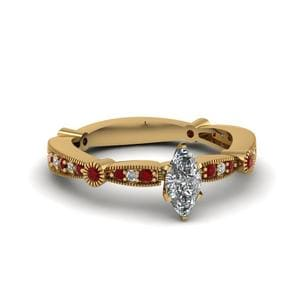 Side Stone Ruby Ring