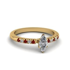 Yellow Gold Petite Ruby Ring