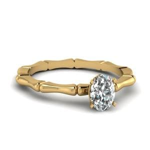 Yellow Gold Oval Shaped Ring