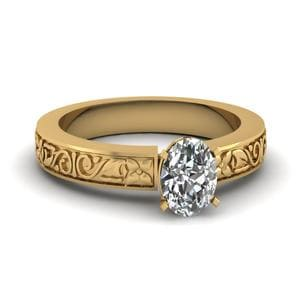 Oval Shaped Solitaire Ring