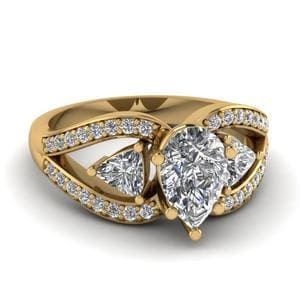 Trillion Butterfly Diamond Ring