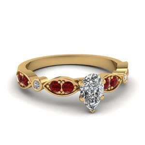 Art Deco Petite Diamond Ring
