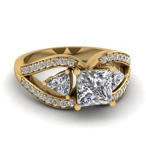Butterfly Trillion Diamond Ring