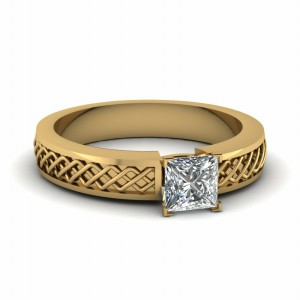 Perfect Match (Criss Cross Engraved Wedding Band)