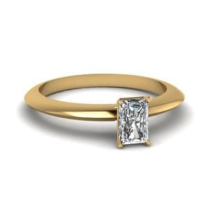 Knife Edged Solitaire Ring
