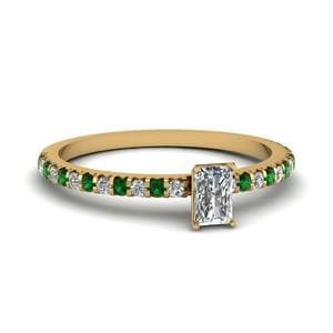 Delicate Radiant Diamond Ring