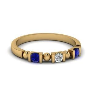 Delicate Sapphire Wedding Band