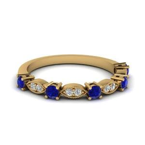 Art Deco Sapphire Wedding Band