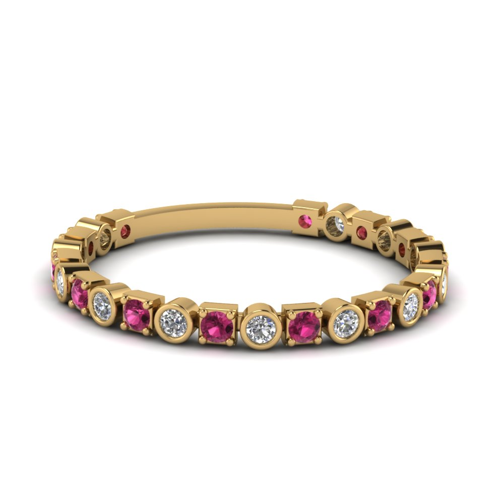 Pink Sapphire Stacking Band