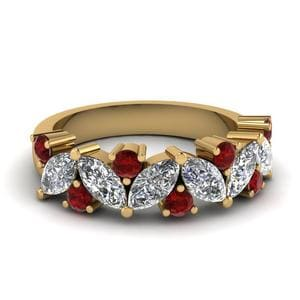 Ruby Leaf Wedding Ring 2 Carat