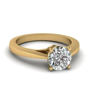 Petite Round Diamond Ring