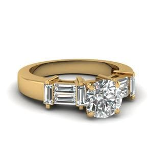 Straight Baguette Engagement Ring
