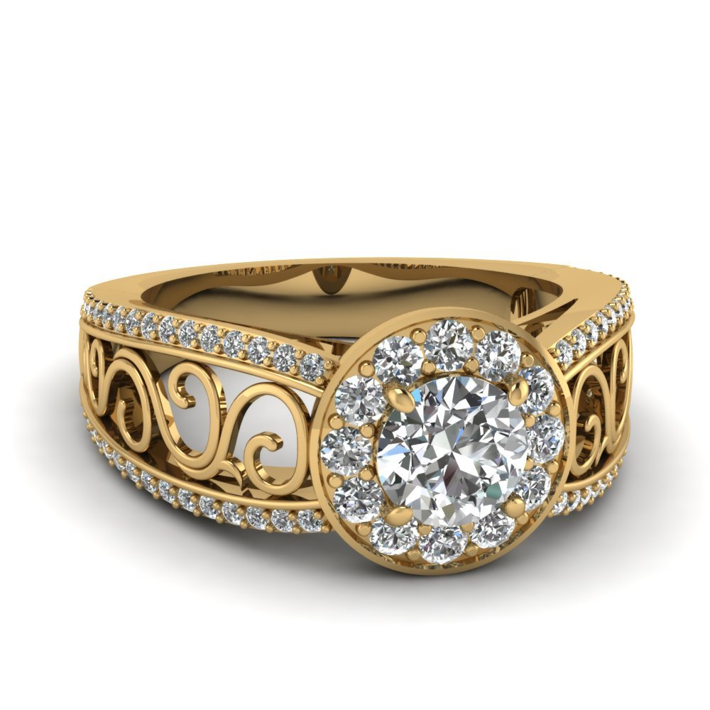 Diamond Filigree Aurora Ring