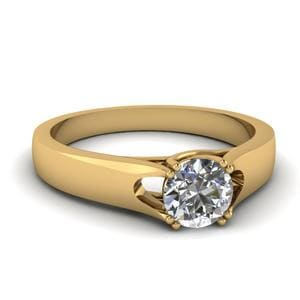 Round Diamond Trellis Solitaire Ring