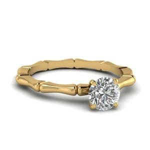 Single Stone Round Cut Ring