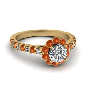 Floating Flower Diamond Ring