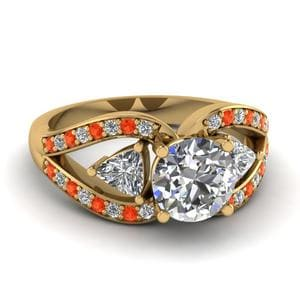 Orange Topaz Butterfly Ring