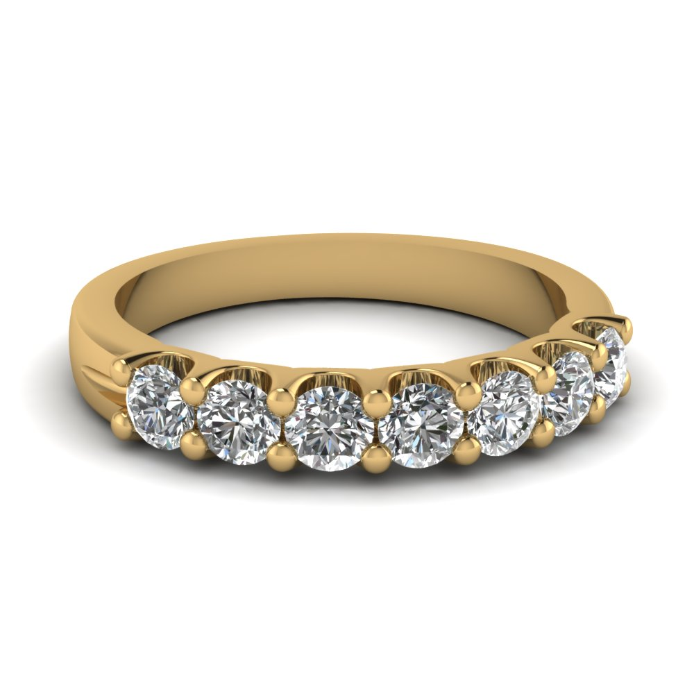 7 stone Yellow Gold Anniversary Band