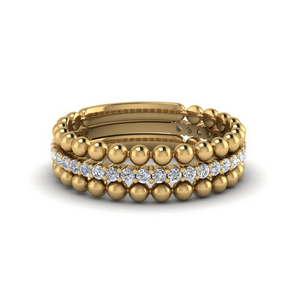 Stackable Bead Diamond Ring