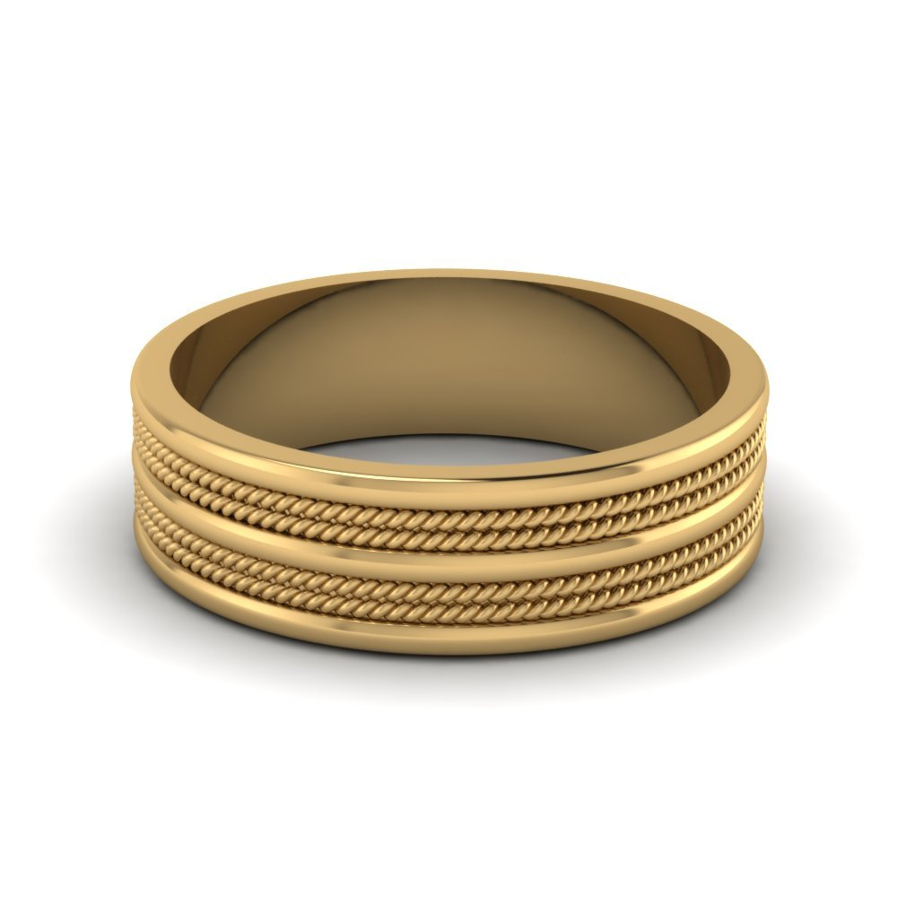 7 mm Mens Twisted Wedding Ring