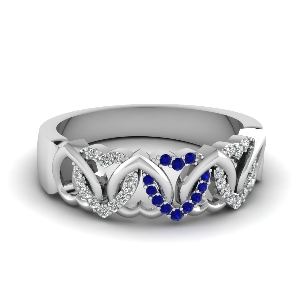 Sapphire wedding Bands For Her