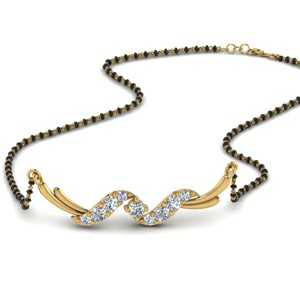 Twisted Diamond Mangalsutra Women