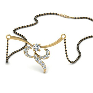 0.35 Carat Diamond Necklace Mangalsutra