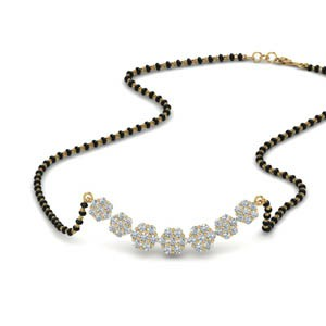 Floral Cluster Diamond Mangalsutra