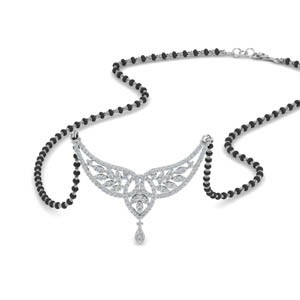 Wings Design Diamond Mangalsutra