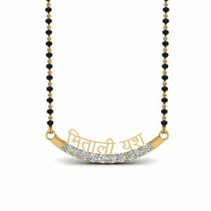 Personalised Mangalsutra With Diamonds