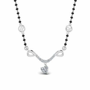 Mangalsutra Sun Sign Diamond With Beads