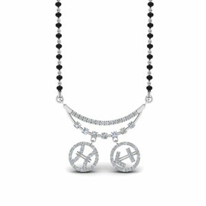 Diamond Mangalsutra With Sun Signs