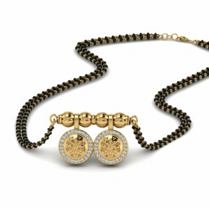 Diamond Wati Mangalsutra Beads