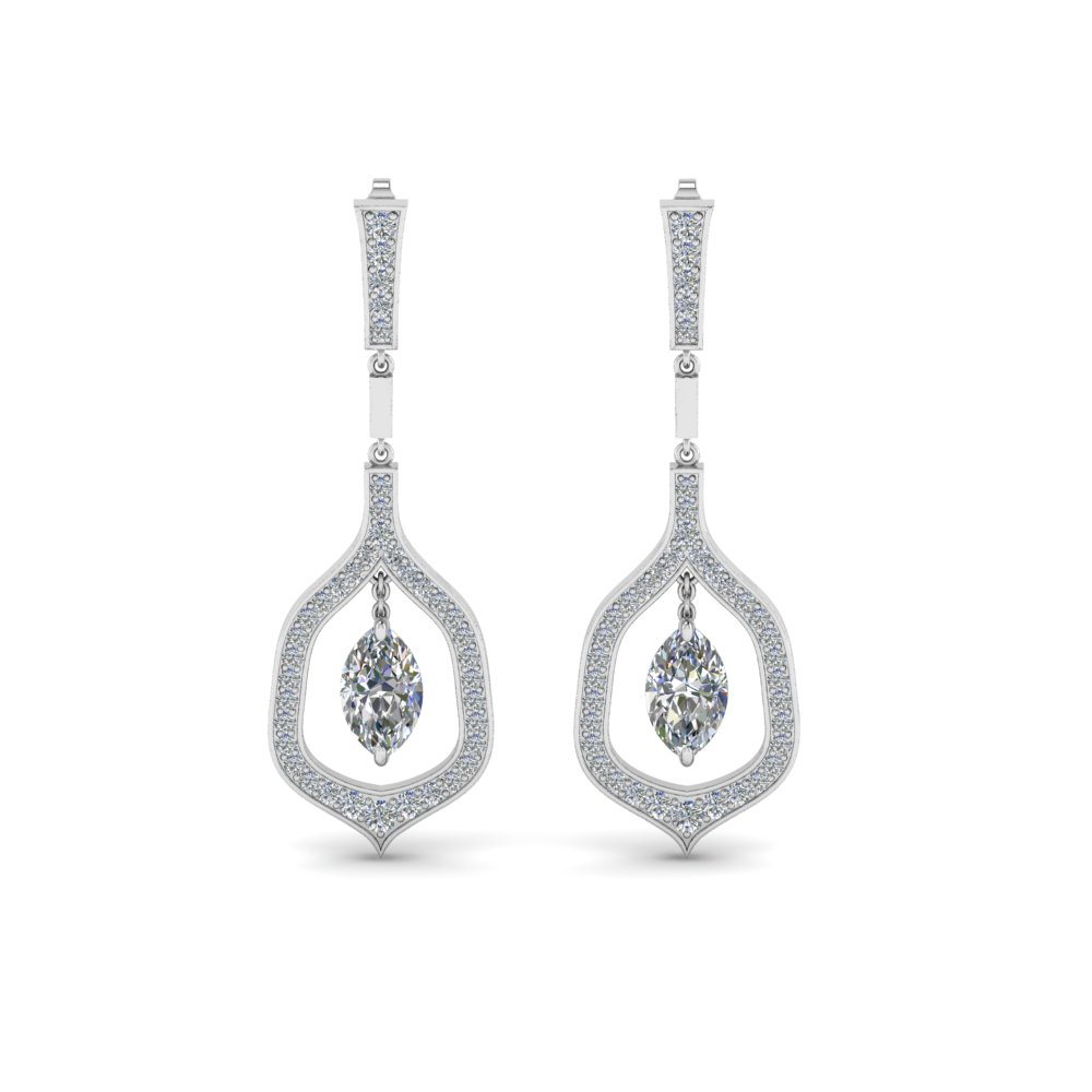 Marquise Diamond Drop Earrings