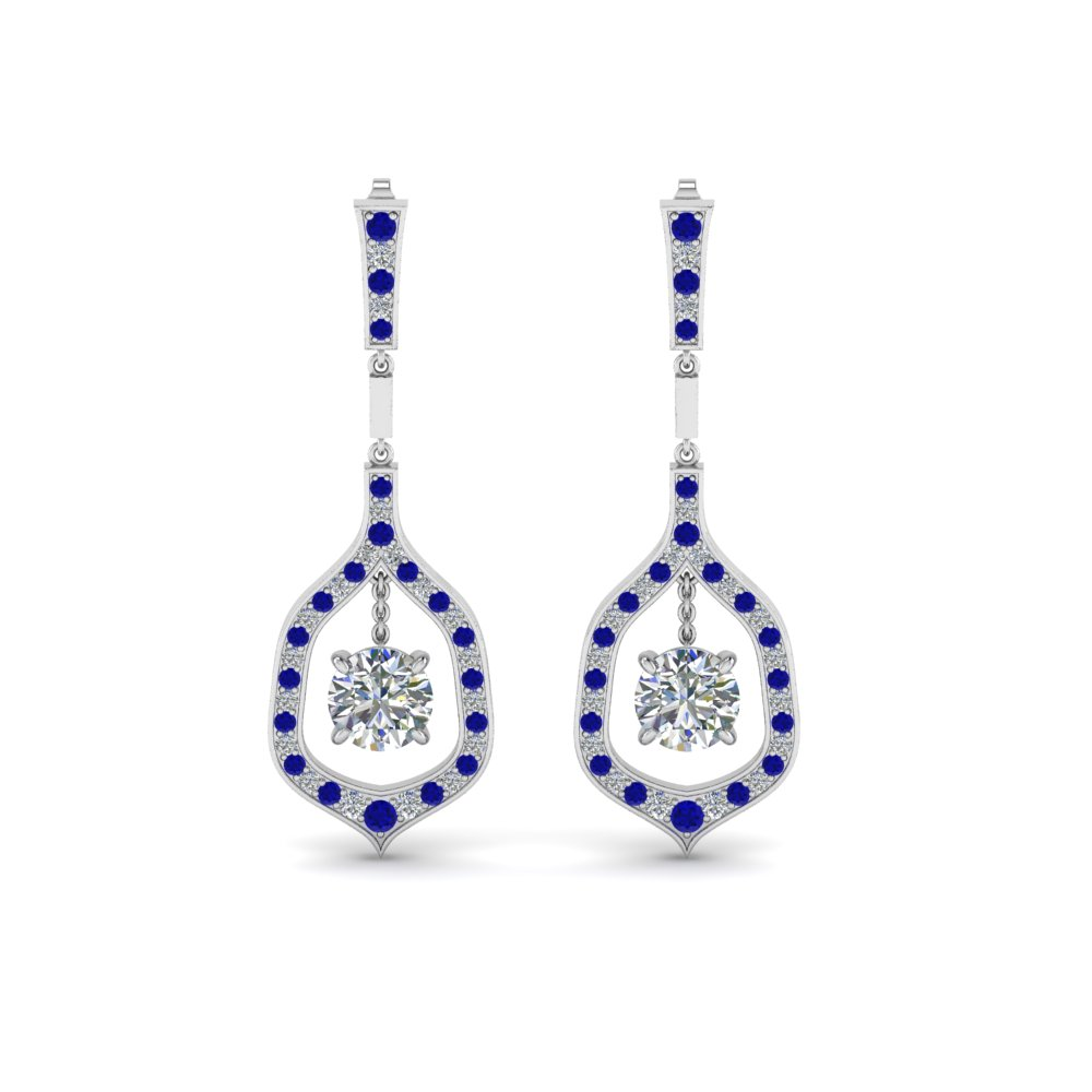Sapphire Hanging Earrings