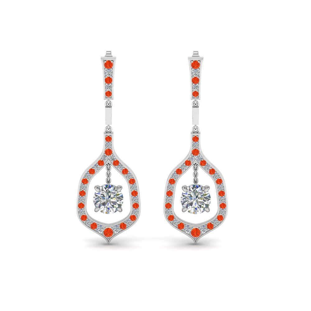 Orange Topaz Drop Earrings
