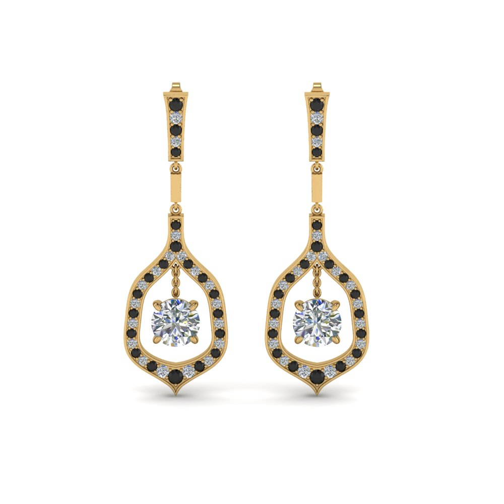 Black Diamond Hanging Earrings