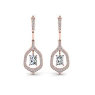 Radiant Drop Hanging Earrings