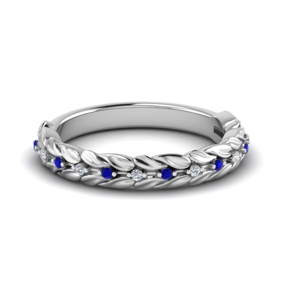 Vintage Sapphire Wedding Bands